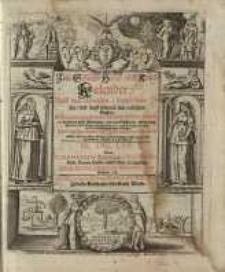 Neuer und Alter Schreib-Calender... 1670