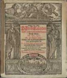 Neuer und Alter Schreib-Calender... 1652