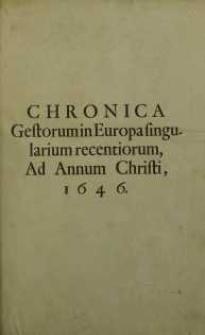 Chronica Gestorum In Europa Singularium a Paulo Piasecio...