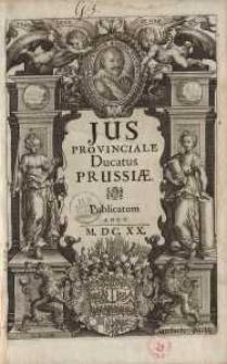 Jus Prouinciale Ducatus Prussiae ...[I-VII]
