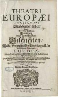 Theatri Europaei, Das ist: Historischer Chronick...1691-1695