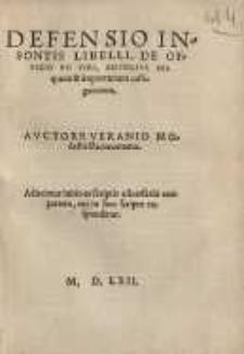 Defensio insontis libelli De officio pii viri, adversus iniquum et importunum castigatorem