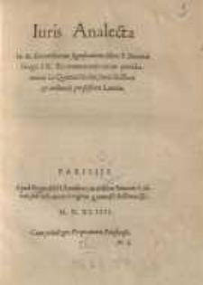 Iuris Analecta In tit. De uerborum significatione, libro V Decretal. Grego. IX…