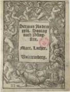 Sermon an dem XXIII. Sontag nach Pfingsten