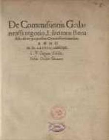 De Commissionis Gedanensis negotio libri tres