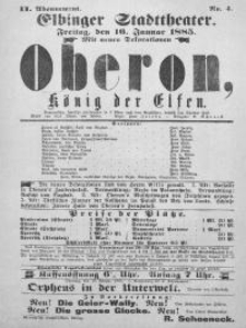 Oberon, König der Elfen - afisz