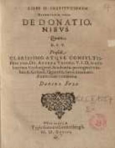 De donationibus, quam, D.F.V. praeside ... Dn. Andrea Ursino ...