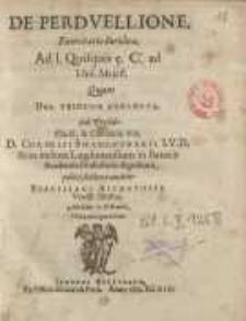 De perduellione, exercitatio iuridica, ... quam deo trinuno annuente ... D. Cornelii Swaenburgii ... Ad. 1. Quisquis 5. C ...