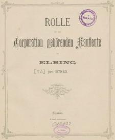 Rolle der Kaufmannschaft von Elbing pro 1879/80