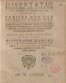 Disputatio vigesima ad librum II Institutionum imperialium praeside Deo... et auxilio... Joannis Schoneri Waltershof...