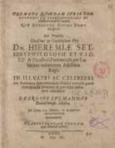 Sub praesidio ... Dn. Hieremiae Setseri ... in illustri ac celeberrima ... Georgius Culmannus...