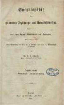 Encyklopädie des gesammten Erziehungs- und Unterrichtswesens ... Bd. 10.