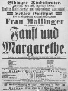 Faust und Margarethe - afisz