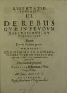 Disputatio feudalis ... III, IV...