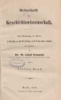 Zeitschrift für Geschichtswissenschaft, 1845, T. 4