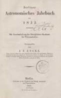 Astronomisches Jahrbuch für das Jahr 1831: nebst einer Sammlung der neuesten in die astronomischen ...