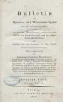 Bulletin des Neuesten und Wissenswürdigsten aus der Naturwissenschaft [...] H. 2.