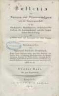 Bulletin des Neuesten und Wissenswürdigsten aus der Naturwissenschaft [...] H. 3.
