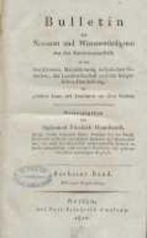 Bulletin des Neuesten und Wissenswürdigsten aus der Naturwissenschaft [...] H. 6.