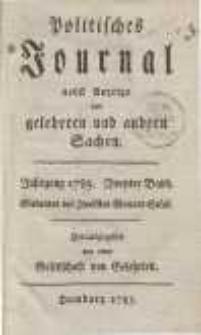 Politisches Journal nebst Anzeige von gelehrten und andern Sachen. Bd. 2.