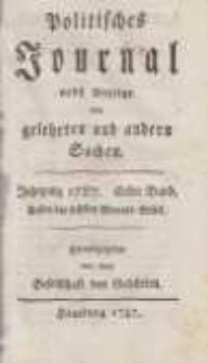 Politisches Journal nebst Anzeige von gelehrten und andern Sachen. Bd. 1.