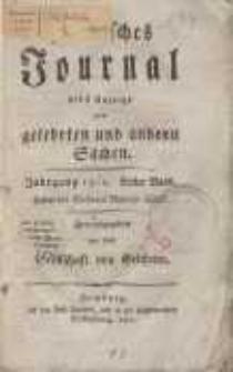 Politisches Journal nebst Anzeige von gelehrten und andern Sachen. Bd. 1 (H.1).