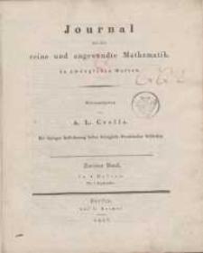 Journal für die reine und angewandte Mathematik. T. 2.