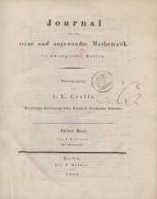 Journal für die reine und angewandte Mathematik. T. 3.