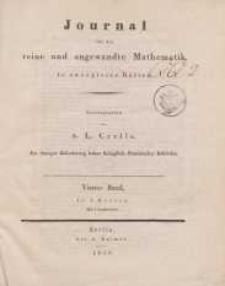 Journal für die reine und angewandte Mathematik. T. 4.