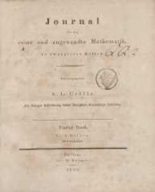 Journal für die reine und angewandte Mathematik. T. 5.