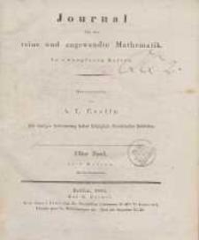 Journal für die reine und angewandte Mathematik. T. 11.