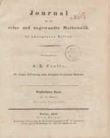 Journal für die reine und angewandte Mathematik. T. 15.