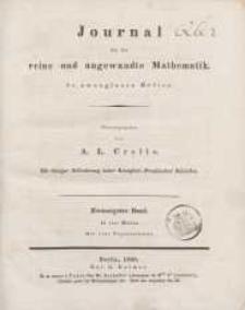 Journal für die reine und angewandte Mathematik. T. 20.
