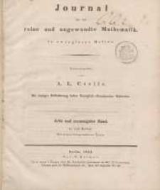 Journal für die reine und angewandte Mathematik. T. 28.