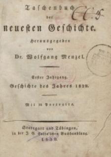 Taschenbuch der neuesten Geschichte, 1830