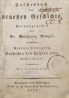 Taschenbuch der neuesten Geschichte, 1833