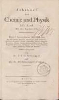 Jahrbuch der Chemie und Physik (Journal für Chemie und Physik), H. 21