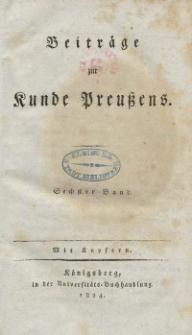 Beiträge zur Kunde Preußens. Bd. 6