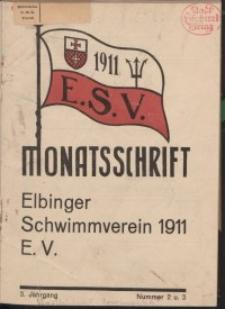 Monattschrift. Elbinger Schwimmverein Jg. 3, 1934, nr 2-3