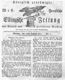 Elbingsche Zeitung, No. 6 Montag, 20 Januar 1800