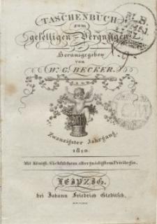 Taschenbuch zum geselligen Vergnügen, 1810