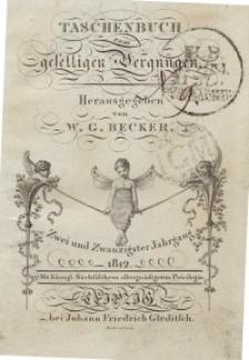 Taschenbuch zum geselligen Vergnügen, 1812