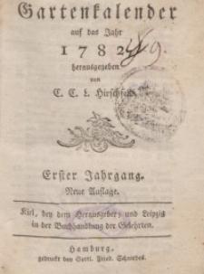 Garten-Kalender, 1782