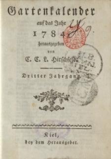 Garten-Kalender, 1784