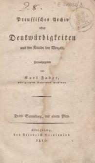 Preussisches Archiv oder Denkwürdigkeiten aus der Kunde der Vorzeit, 1809, T.3