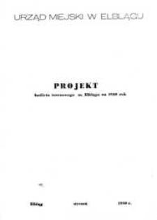 Projekt budżetu terenowego miasta Elbląga na rok 1980 – biuletyn