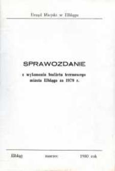 Sprawozdanie z wykonania budżetu terenowego miasta Elbląga za 1979 r. - biuletyn