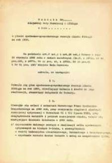 Uchwała Miejskiej Rady Narodowej w Elblągu o planie społeczno-gospodarczego rozwoju miasta Elbląga na rok 1980 - druk
