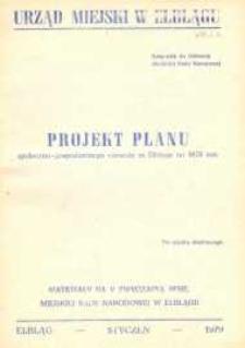 Projekt planu społeczno-gospodarczego rozwoju miasta Elbląga na rok 1979 – biuletyn