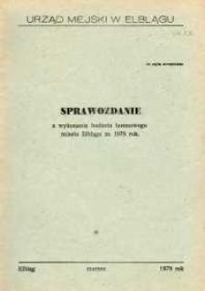 Sprawozdanie z wykonania budżetu terenowego miasta Elbląga za 1978 r. - biuletyn